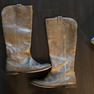 Frye gray leather boots